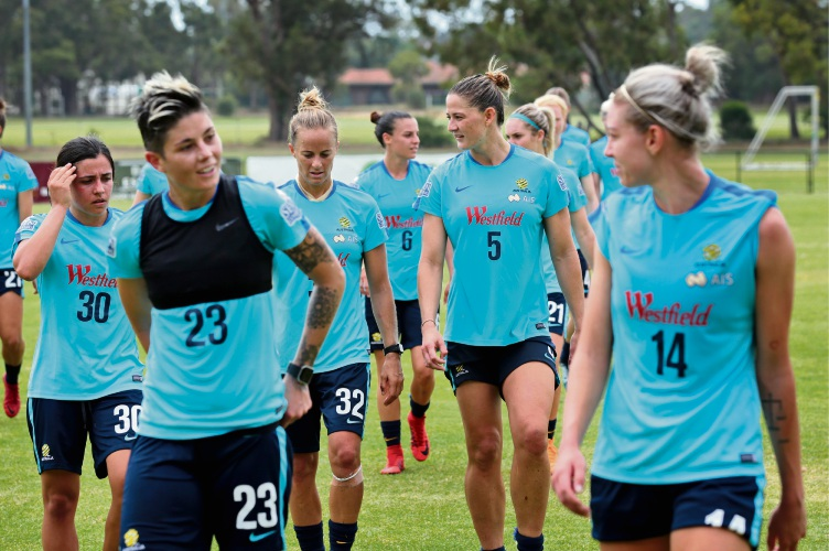 Matildas warm up ahead of clash with Thailand