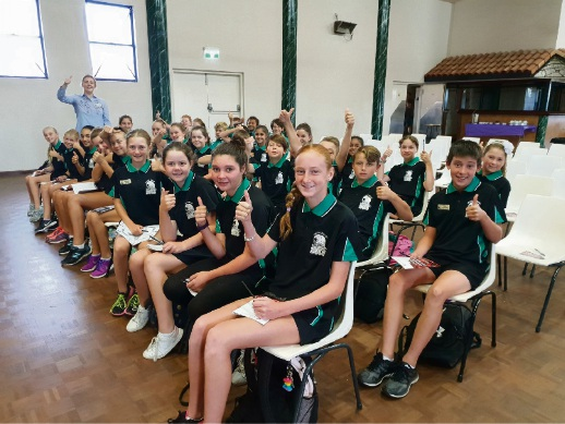Halls Head Primary school Year six students at the 2018 GRIP Student Leadership Conference.