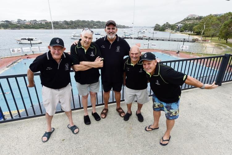 Fremantle Shivering Shags Max Trott, Simon Devitt, Paul Cleland, John Moore Snr and Mark Regan.
