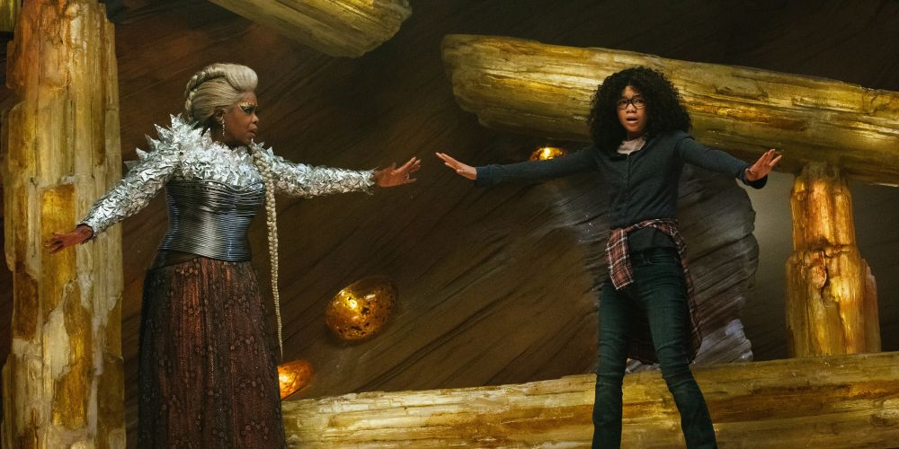 Oprah Winfrey is Mrs. Which and Storm Reid is Meg Murry in Disney's A Wrinkle in Time.