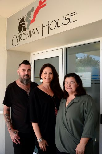 Program co-ordinator Vanessa Stasiw (centre) with peer support workers John Harrison  and Marisha Gerovich. Picture: Supplied