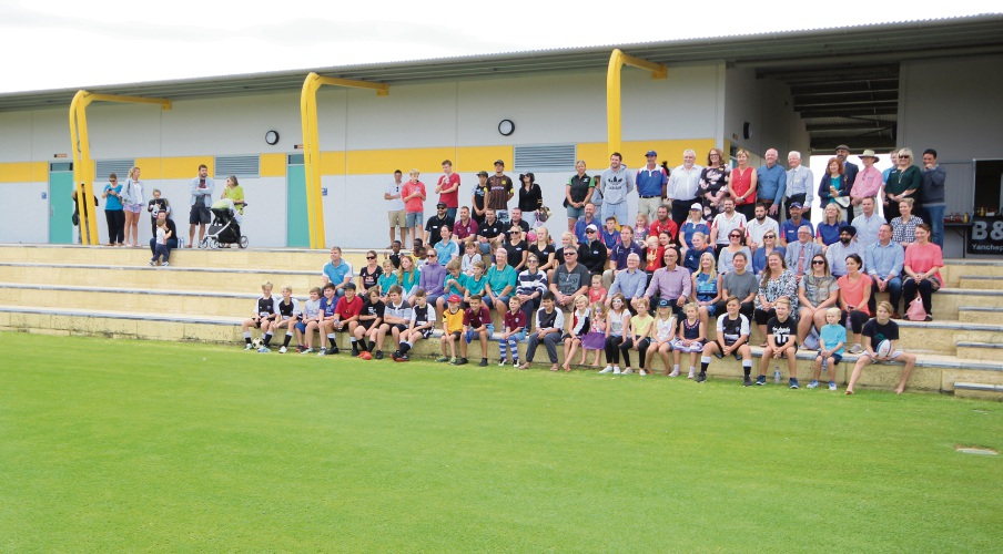 Local sporting clubs joined officials for the opening of Yanchep's playing fields.