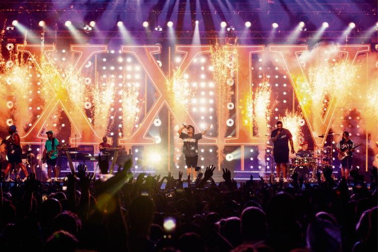 Bruno Mars during his 24K Magic tour in Australia.