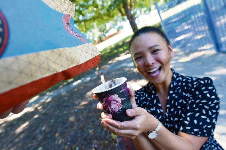 East Victoria Park resident Katie Liew wants to start up a coffee cart at John MacMillan Park. Picture: Jon Hewson.