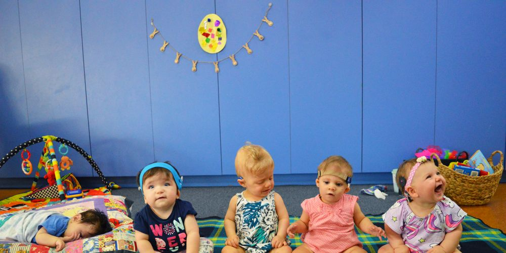 Children from the Chatterbox Program at Telethon Speech & Hearing. A group of eight mums is participating in the HBF Run for a Reason to fundraise for the centre. Picture: Supplied