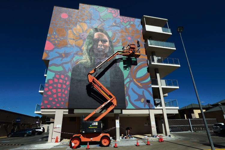 Polish artist Bezt has painted a five-storey high mural in Applecross.