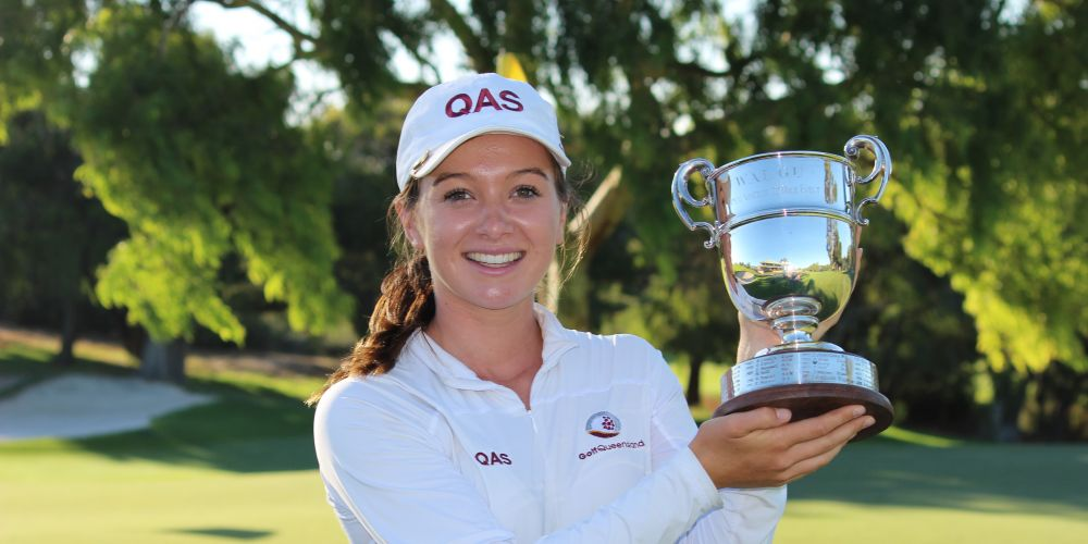 Becky Kay wins the Women's Classic at Cottesloe Golf Club.