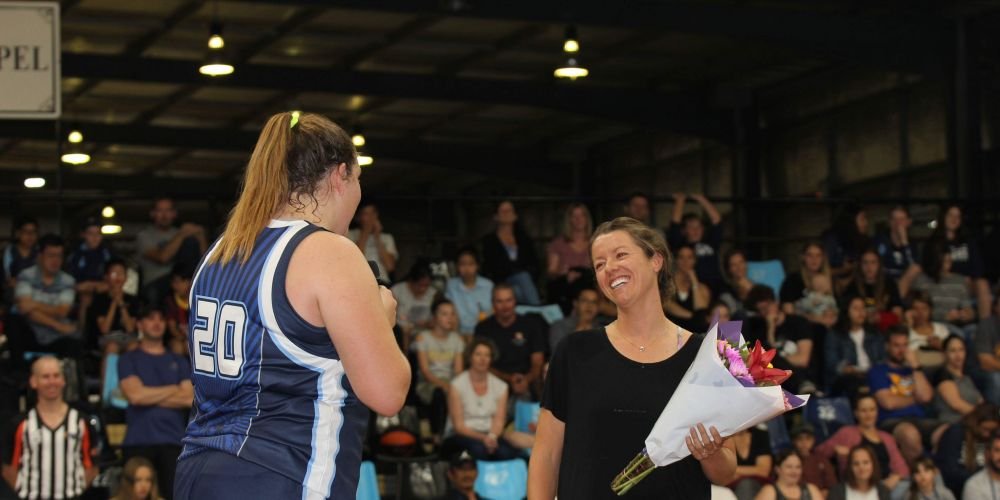 A retiring Kate Malpass is thanked for her dedication to the club.