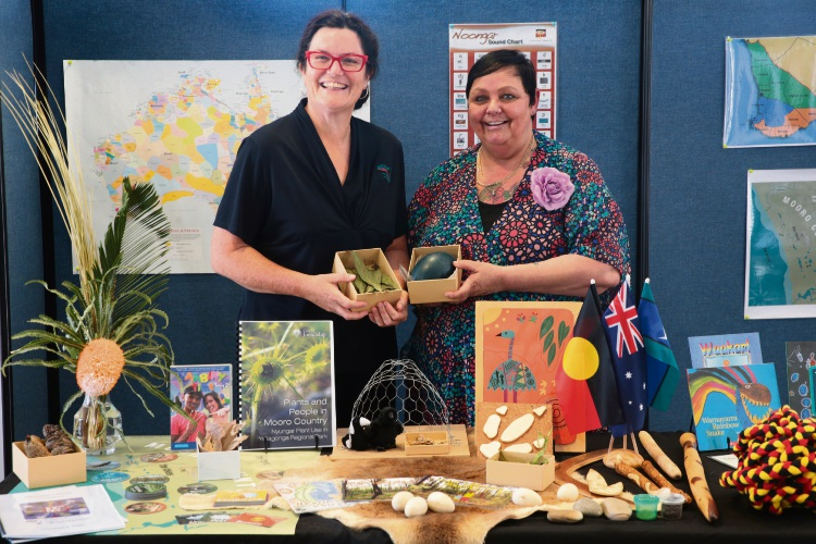 Marion Chalker (Aboriginal Diversity Officer) and Museum Education Officer Gabrielle Grime. Picture: Martin Kennealey d481258