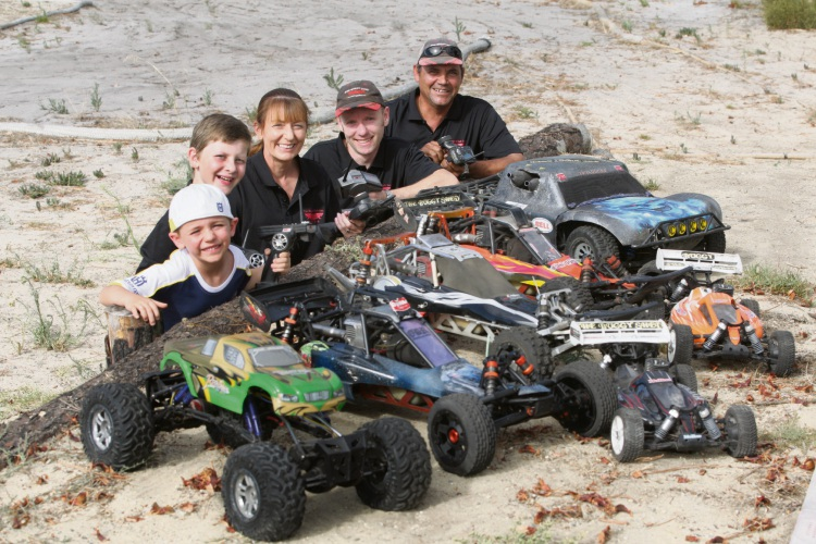 James Newby, Michael Cools, Samantha Ifould, John Newby and Aaron Ifould. Picture: Bruce Hunt d480667