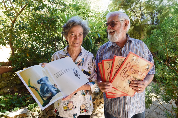 Jill Fryer and John Pannell with copies of The Whimsical Menagerie. Photo: Jon Hewson