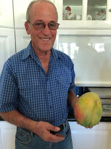 Mon Comito and his giant mango.