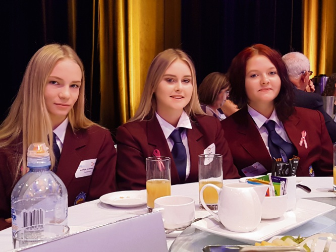 Year 11 students Makhyla Anderson, Libby Houghton and Susan Lavender were guests at the Chamber of Minerals and Energy breakfast.