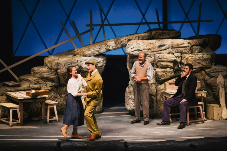 Daisy Coyle, Nick Maclaine, Murray Dowsett and Benj D'addario in The Lighthouse Girl.