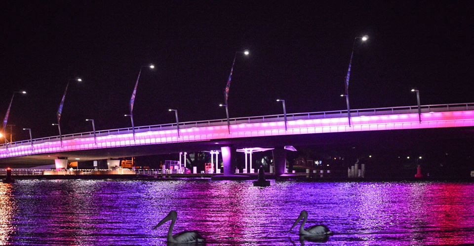 The new Mandurah Bridge.