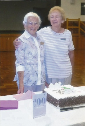 Erla Anstey on her 100th birthday