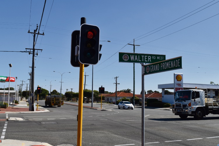 Walter Road West is on the border of the Cities of Bayswater and Stirling. Picture: Kristie Lim.