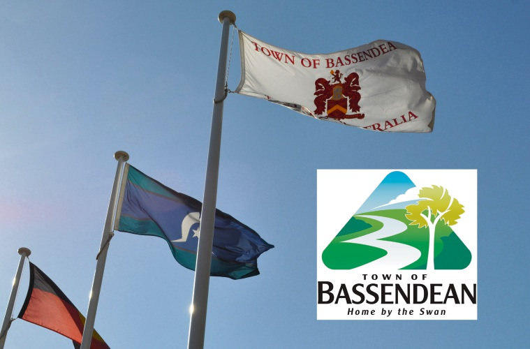 The Town of Bassendean logo is soon to fly as the Town's official flag, replacing the Broun family crest.