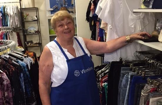 Vinnies Toodyay volunteer store manager Jackie Irvine.