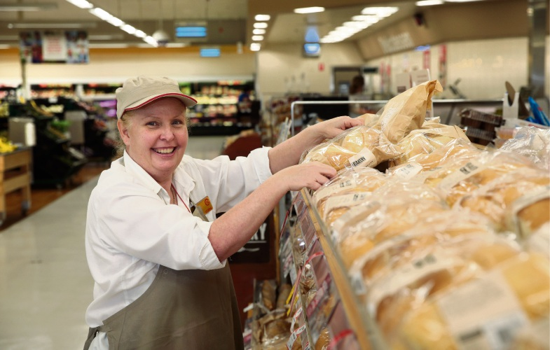 Coles bakery manager Tracy Waldock. Picture: Martin Kennealey d481385