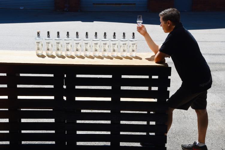 Mike Caban at High Spirits Distillery. Jon Hewson d481383