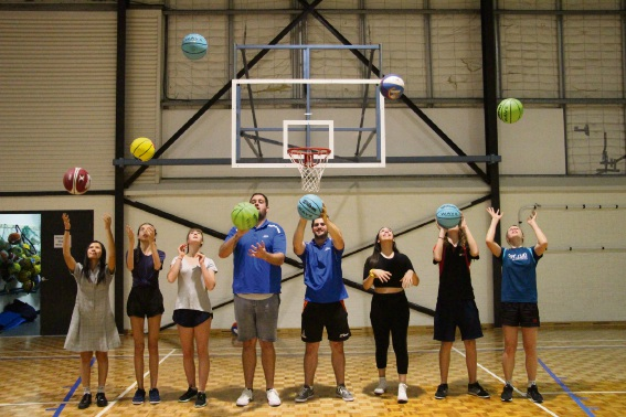 South Perth Youth Network members with George Burnett Leisure Centre staff preparing for the '3 on 3' basketball competition. South Perth Youth Network members Sherry Lee (left), Asmin Bourthier, Alice Annetts, Annabel Biscotto, Dylan DiAngelo and Jemma Schofield with George Burnett Leisure Centre staff Kieran O'Connor (centre) and Brodie McKee.