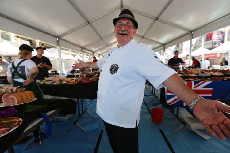 Vince Garreffa will be cutting up a storm at the Smokin' in the City and Lifeline International Young Butchers Cutting and Cooking Competition.