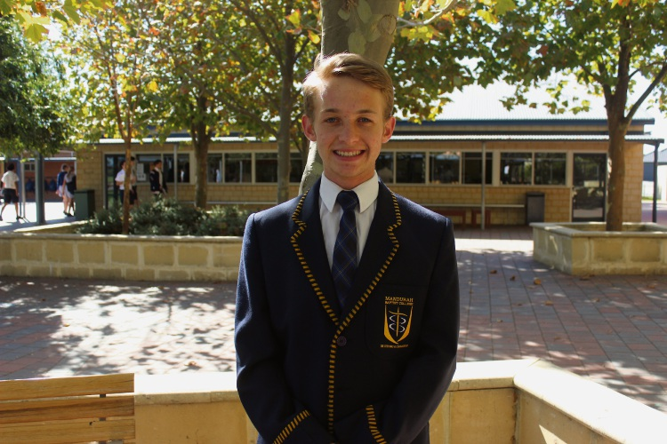 Mandurah Baptist College student and newly elected member for South Perth in WA's Youth Parliament Rp van der Westhuizen.