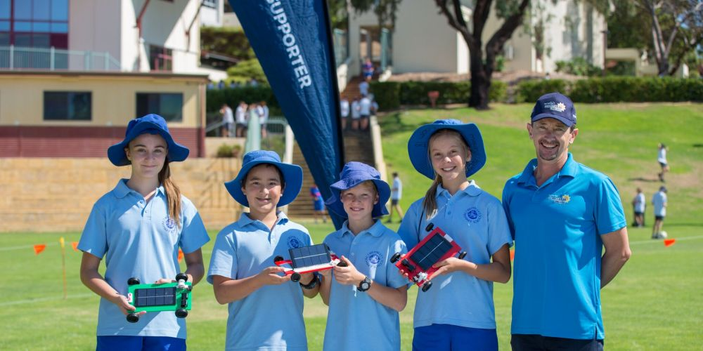 ear 6 students Ella Celenz, Eusebio Kamide, Lily Barlow and Jake Wilkie from Wembley Primary School are heading to the 2018 Synergy Schools Solar Challenge grand final. Picture: Supplied.