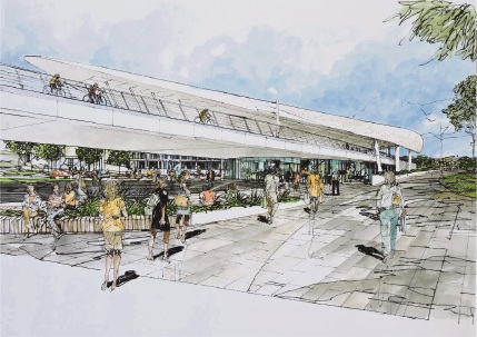 An artist impression of the Bayswater station upgrade.