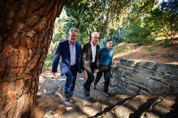 John Werndly (Commercial Director Cape Australia PLC), Bill Elsegood (Owner of Dentpro and Dental Intelligence), Chris Darmody (Youth Psychologist). Picture: Will Russell d481393