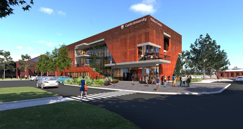 Artist impression of Curtin University campus in Midland.