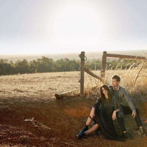 Models Sarah Tilleke and David Genat