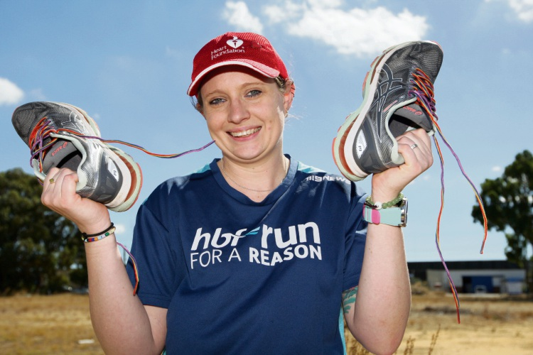 Cass Stacey is gearing up to run in the HBF Run for a Reason charity event. Photo: Bruce Hunt