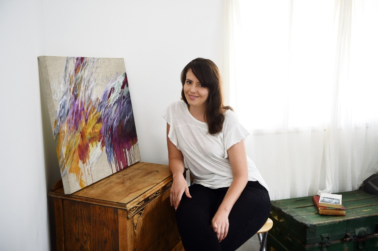 East Victoria Park artist Rozanna Johnson is helping to raise money for Epilepsy Action Australia. Picture: Jon Hewson d481491
