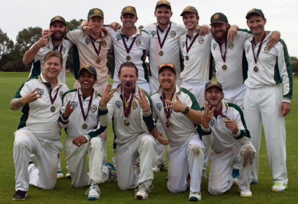 Joondalup Kinross Cricket Club's victorious A-grade side.