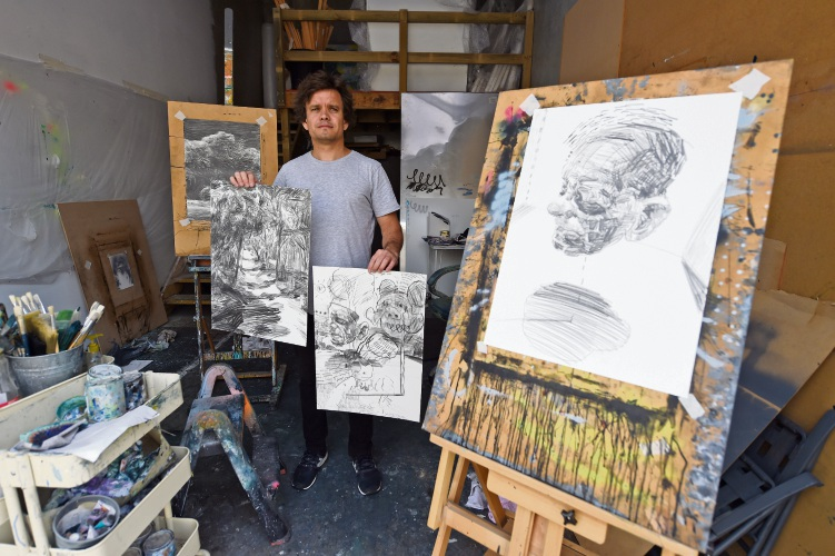Rockingham artist Andy Quilty will collaborate with a WA prisoner on Untitled, an exhibition at Heathcote Gallery opening May 4.