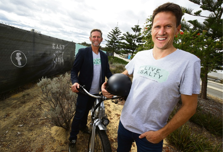 Urban Quarter's Jason Wallis and general manager Stuart Reside are developing East of the Beach. Picture: Matt Jelonek d481722