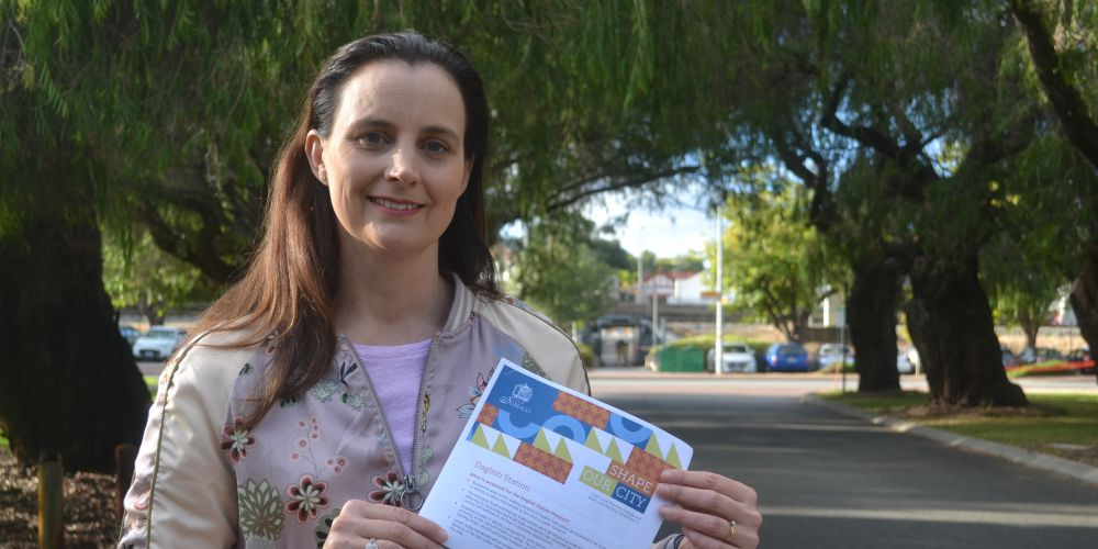 Subiaco mayor Penny Taylor near Daglish Station, one of the areas with significant changes proposed by the draft Local Planning Scheme No. 5. Ms Taylor is urging all locals to have their say on the plans.