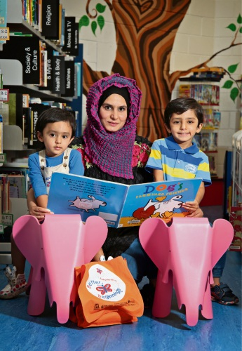 Anam Hamid of Maylands with her children Zarrar (4) and Faateh (2). Picture: David Baylis www.communitypix.com.au d481356