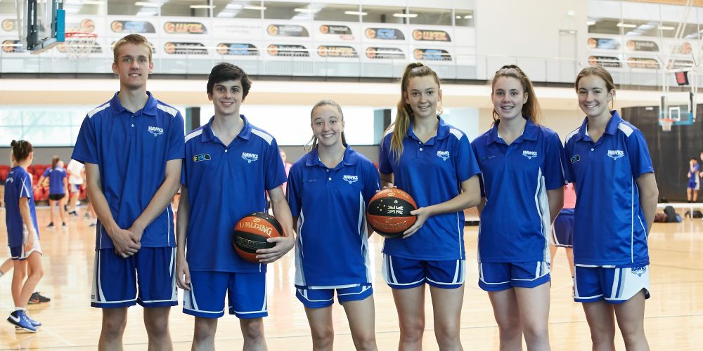 Nathan Thomas, Adrian Nobensi, Millie McCarthy, Tia Morgan, Natasha Oberman and Samantha Ashby from the Perry Lakes Hawks. Picture: Supplied