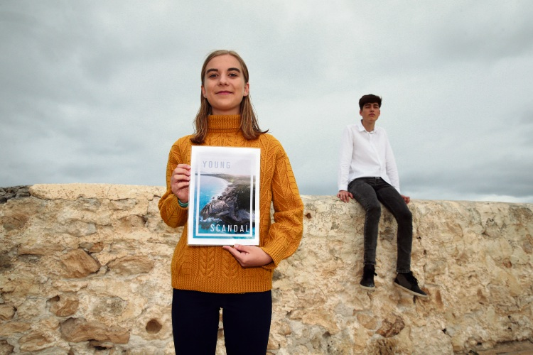 Orla Latawski (Attadale) and Oscar Wilson (Fremantle) from Young Scandal Magazine. Picture: Martin Kennealey