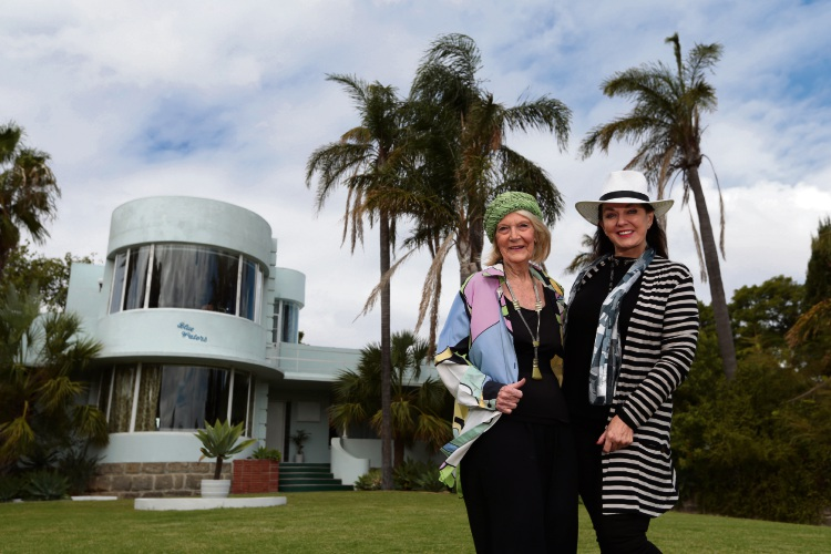 Vyonne Geneve (Rockingkam) and Libby Bacich (Shenton Park) from the Art Deco and Modernist Society of WA. Pictures: Martin Kennealey www.communitypix.com.au d481639