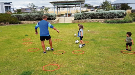 Clarkson: Target Sports and Satterley teaching kids to play soccer