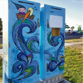 A cabinet in Australind painted by Sharon Hinchliffe.