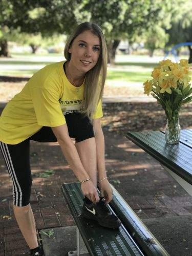 Cloverdale resident Jess Dunbar is gearing up for the HBF Run for a Reason to raise money for Cancer Council WA.
