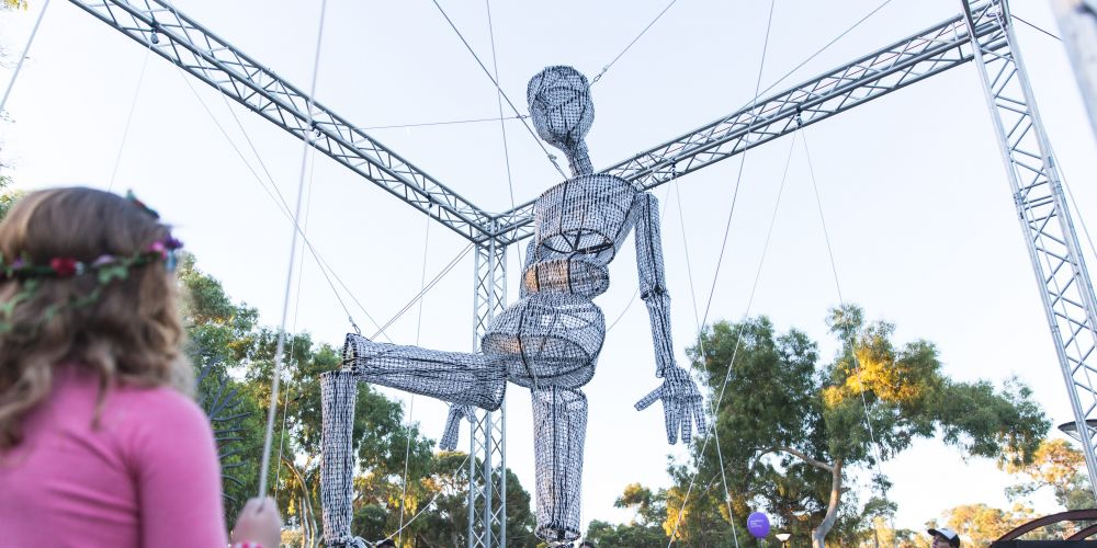 <i>String Symphony</i> can be seen in Mandjar Square between 10am and 4pm at the Stretch Festival on May 5 and 6.