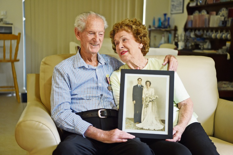 The love between Peter (95) and Berry (89) Hackett has stood the test of time. Picture: Jon Hewson d481836
