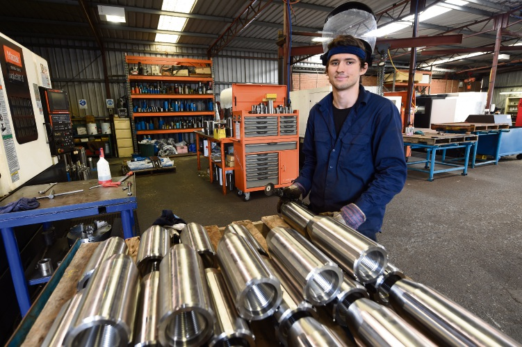 Ezekiel Chapman (18) finally has a job after Austrod Engineering managing director Tony Borromei heard about his struggle to find work in the Courier.