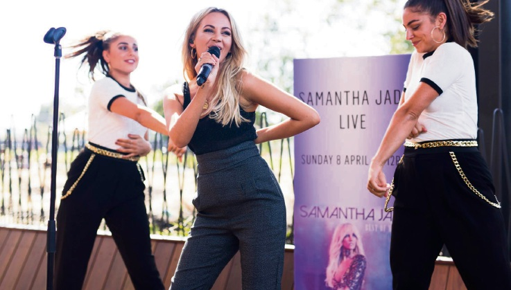 Samantha Jade is coming to Westfield Whitford City.